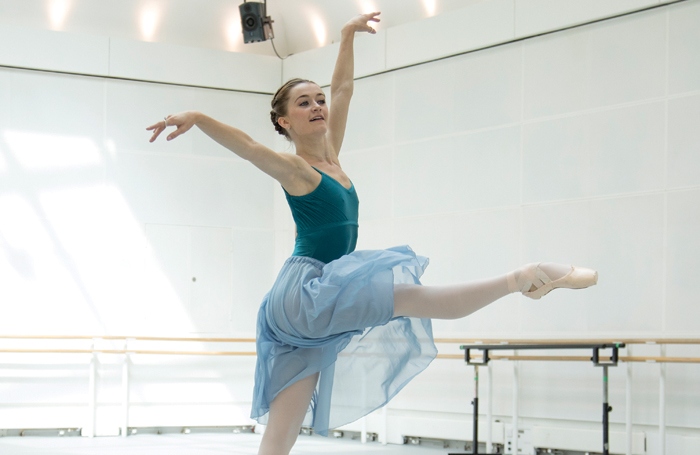 Anna Rose O'Sullivan in rehearsal at the Royal Opera House. Photo: Andrej Uspenski