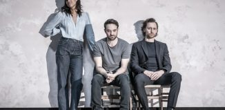 Zawe Ashton, Charlie Cox and Tom Hiddleston in Betrayal – a show with a minimalist set designed by Soutra Gilmour