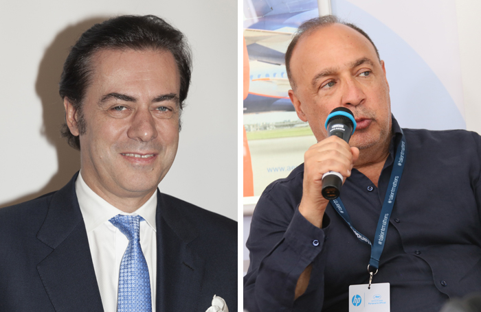 John Gore and Len Blavatnik. Photos: Shutterstock