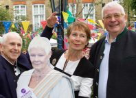 Wayne Sleep, Celia Imrie and Christopher Biggins at the event in Covent Garden. Photo: Mark Lomas