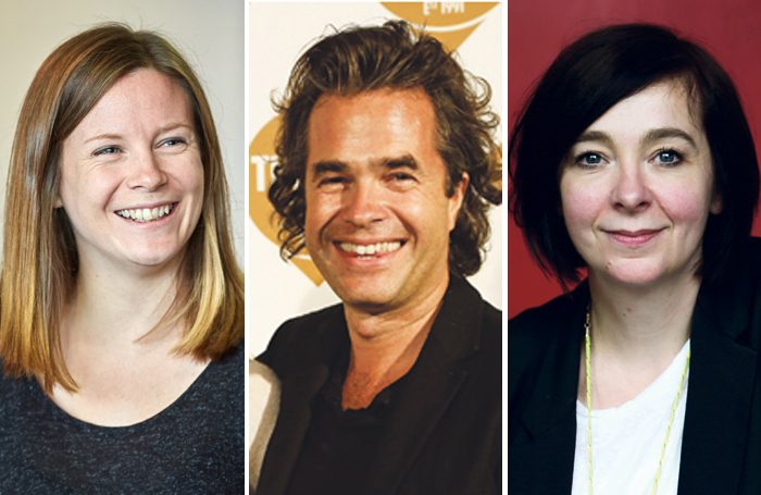 Rebecca Frecknall, Rupert Goold and Vicky Featherstone, all of whom benefited from the Regional Young Director Scheme. Photos: Mark Douet/Helen Maybanks/Rosie Hallam