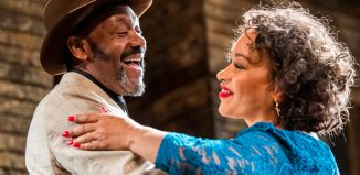 Lenny Henry and Martina Laird in King Hedley II at Theatre Royal Stratford East. Photo: Tristram Kenton