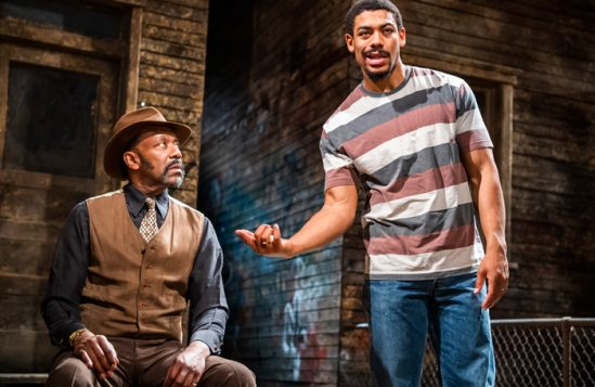 Lenny Henry and Aaron Pierre in King Hedley II at Theatre Royal Stratford East. Photo: Tristram Kenton