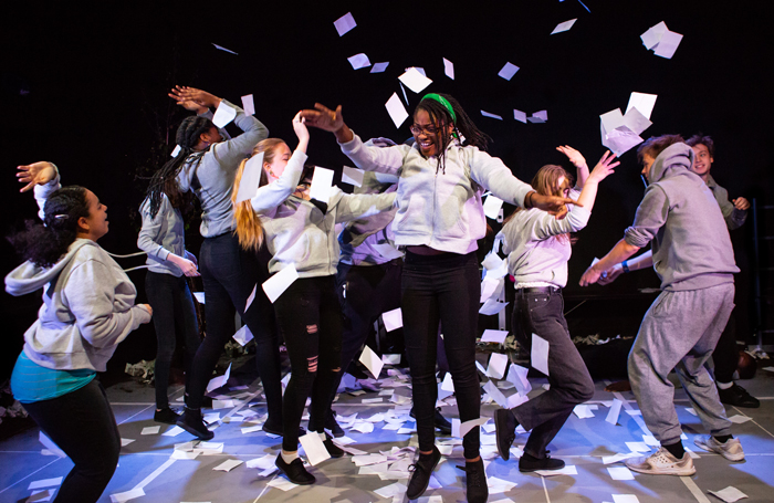 Camden Youth Theatre performers in London. Photo: Ali Wright