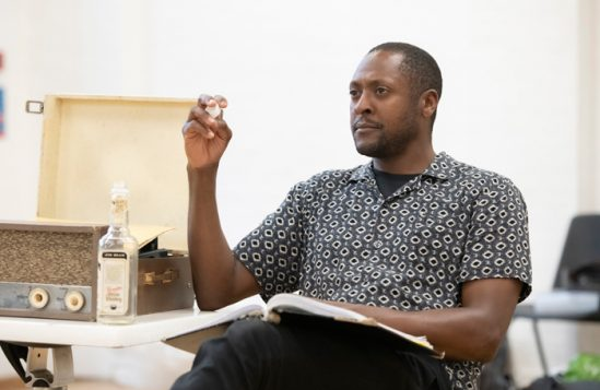 Matt Henry in rehearsals for One Night in Miami... at Nottingham Playhouse