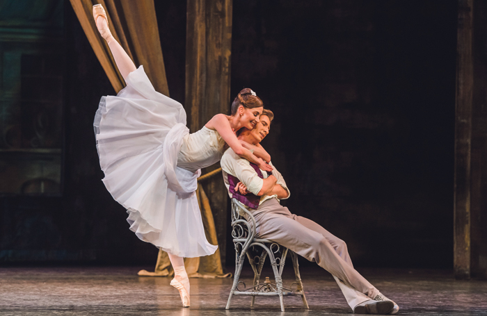 Cuthbertson with Vadim Muntagirov in The Two Pigeons in January (above) at the Royal Opera House. Photo: Tristram Kenton