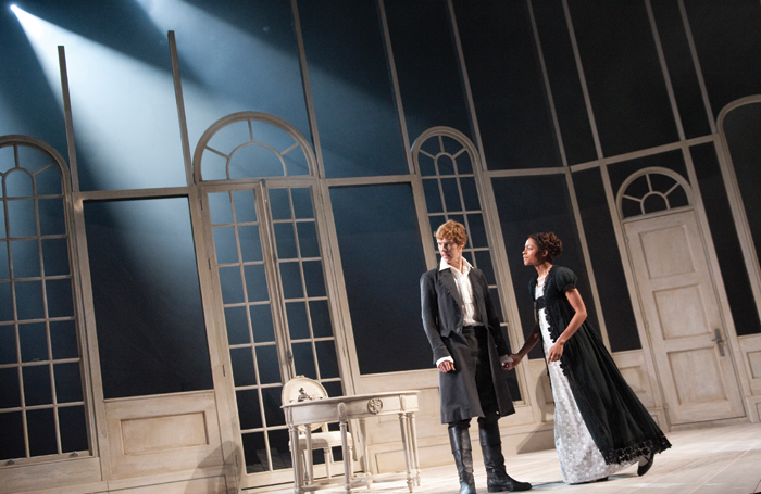 Benedict Cumberbatch and Naomie Harris in Frankenstein at the National Theatre, Olivier (2011) for which Bruno Poet won an Olivier Award in 2012