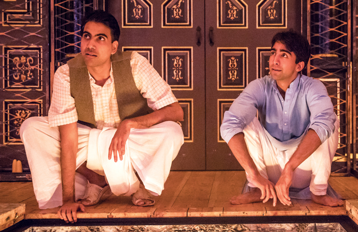 Jaz Deol and Shubham Saraf in Lions and Tigers (2017). Photo: Marc Brenner