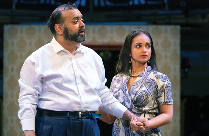 Tony Jayawardena and Shalini Peiris in Hobson's Choice at Manchester Royal Exchange. Photo: Marc Brenner