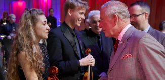 Prince Charles at the Royal Welsh College of Music and Drama's 70th birthday celebrations. Photo: Kiran Ridley