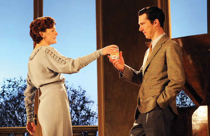 Carroll with Benedict Cumberbatch in Terence Rattigan's After the Dance at the NT's Lyttelton in 2010. Photo: Tristram Kenton