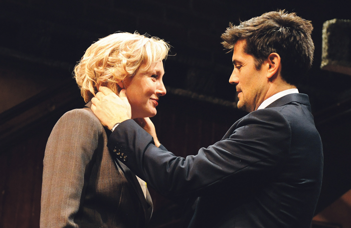 Carroll with Michael Landes in House of Games at the Almeida in 2010. Photo: Tristram Kenton