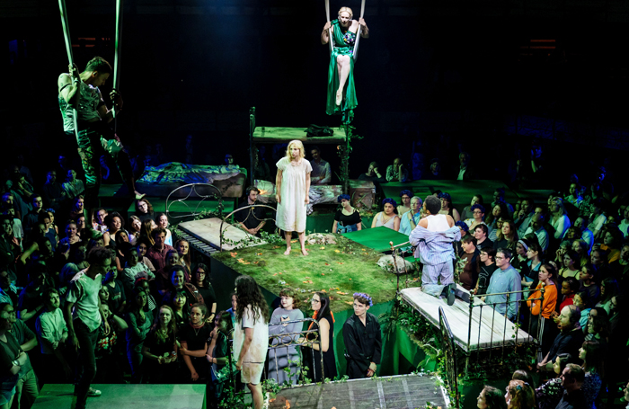 A scene from A Midsummer Night's Dream at the Bridge Theatre. Photo: Manuel Harlan