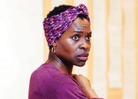 Rakie Ayola in rehearsals for Strange Fruit at the Bush. Photo: Helen Murray