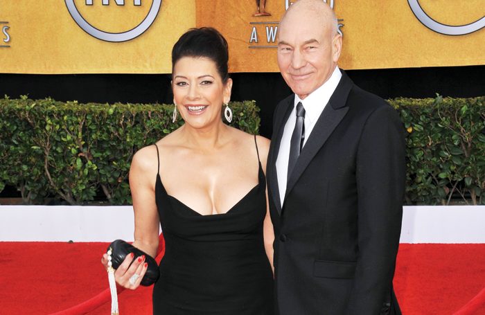 Sirtis with former Star Trek co-star Patrick Stewart at the 2011 Screen Actors Guild Awards. Photo: Shutterstock