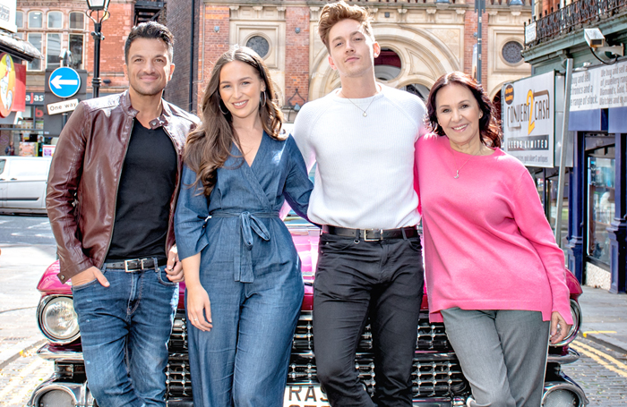 Peter Andre, Martha Kirby, Dan Partridge and Arlene Phillips at the Grease press launch in Leeds. Photo: Ant Robling