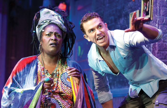 Sharon D Clarke and Richard Fleeshman in Ghost The Musical at the Piccadilly Theatre (2011). Photo: Tristram Kenton