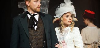 Tom Fyans and Jazz Sanders in After Dark; Or, a Drama of London Life at Finborough Theatre, London. Photo: Sheila Burnett
