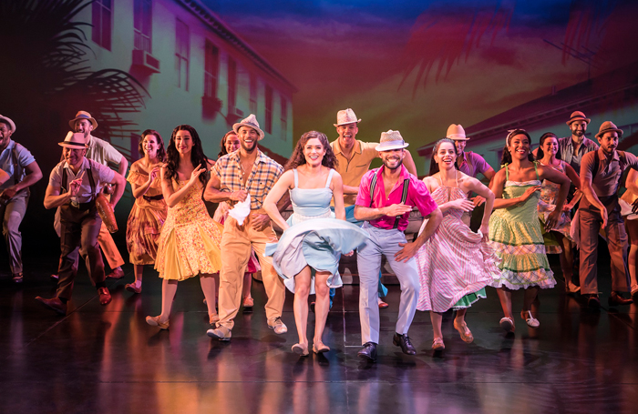 Christie Prades and the cast of On Your Feet!. Photo: Johan Persson