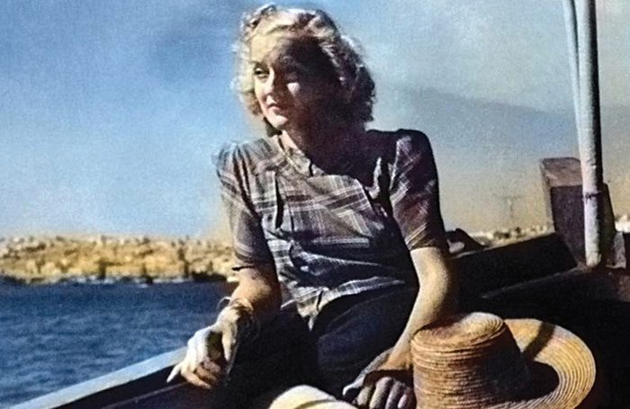 Christina Ratcliffe in Malta in the 1940s