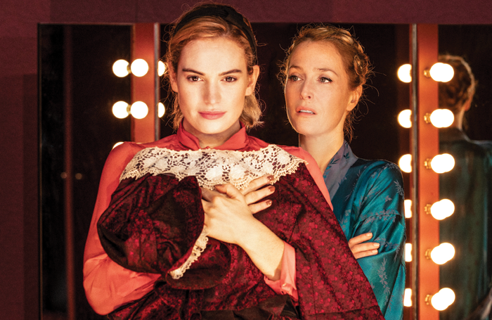 Ivo van Hove directed Lily James and Gillian Anderson in All About Eve at the Noel Coward Theatre earlier this year. Photo: Jan Versweyveld