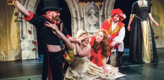 Shit-Faced Shakespeare's shows rely on actors' inebriation for comic effect, but in most productions being drunk on stage would be highly unprofessional. Photo: Tristram Kenton