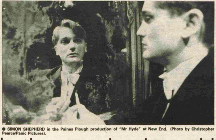 The Stage's review of Mr Hyde by Paines Plough in May 1984