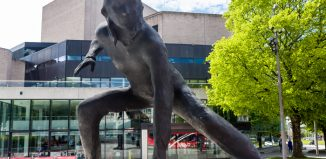 The Messenger statue outside Plymouth Theatre Royal. Photo: Shutterstock