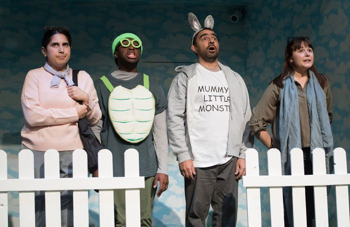 The cast of Aesop's Fables in Tortoise and Hare. Photo: Craig Sugden