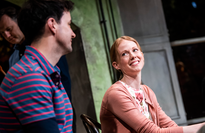 Sam Swainsbury and Zoe Boyle in End Of History... Photo: Tristram Kenton