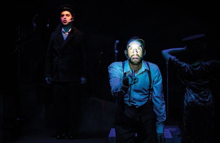 Coenen used the same torchlight technique from Come from Away for Operation Mincemeat at the New Diorama. Photo: Alex Harvey-Brown
