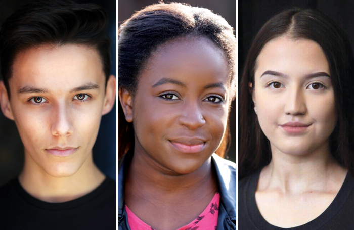 Dominique Sands, Jessica Odeleye and Zhanel Atymtayeva, three of the Emil Dale Academy scholarship winners 2019