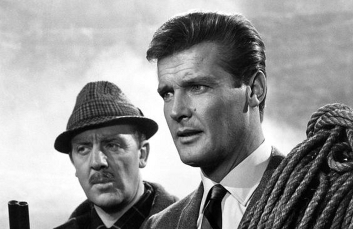 Glyn Houston with Roger Moore in The Saint in 1966