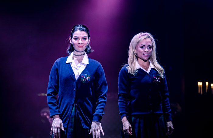 Rebecca Gilhooley and Sophie Isaacs in Cruel Intentions: The '90s Musical. Photo: The Other Richard