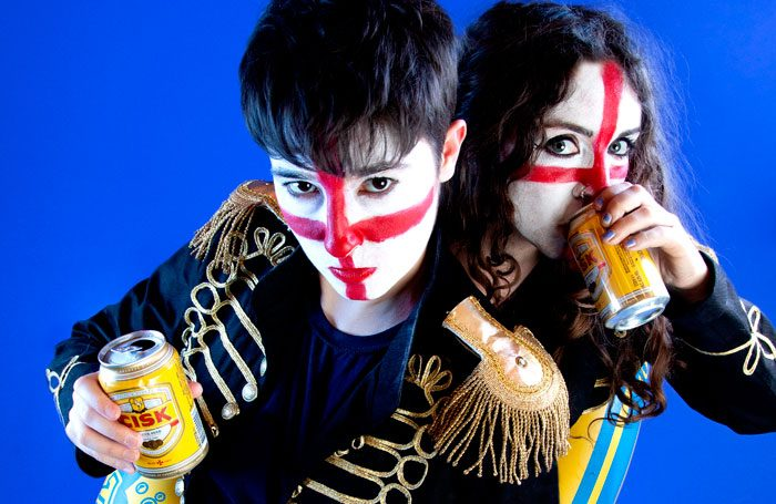 Louise Mothersole and Rebecca Biscuit in Sh!t Theatre Drink Rum With Expats at Summerhall, Edinburgh. Photo: Bronwen Sharp