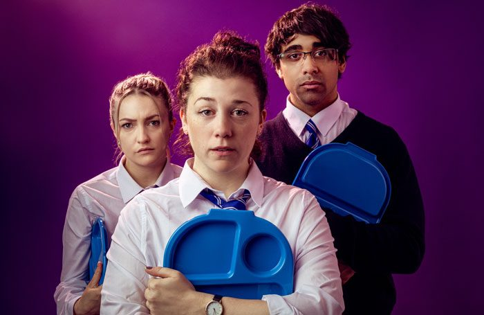 Lizzie Mounter, Jessica Temple and Luke Grant in Who Cares at Summmerhall, Edinburgh