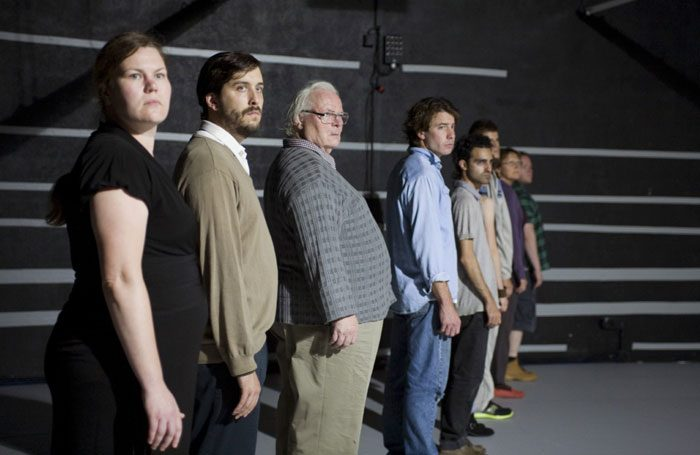 The cast of 8:8 at Summerhall, Edinburgh. Photo: Nelly Rodriguez