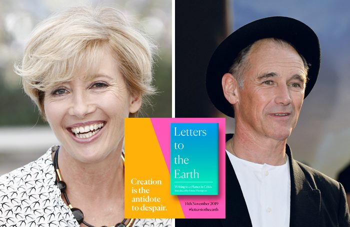 Emma Thompson and Mark Rylance are contributors to the anthology: Letter to the Earth. Photos: Shutterstock/Harper Collins