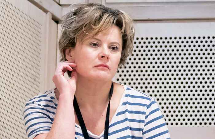 Monica Dolan in rehearsal for Appropriate. Photo: Marc Brenner