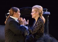 Sofija Cingula and Jelena Stefanic in Caccia Lontana at the Bridewell Theatre, London