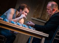 Alec Newman and David Schaal in The Weatherman at Park Theatre, London. Photo: Piers Foley