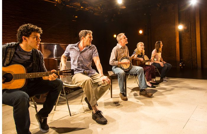 The cast of America is Hard to See at Underbelly, Edinburgh. Photo: T Charles Erickson