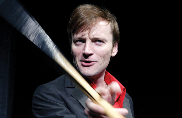 Richard Dormer in Hurricane at Soho Theatre in 2004. Poto: Tristram Kenton