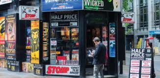 Half-price tickets for sale in the West End. Photo: Shutterstock