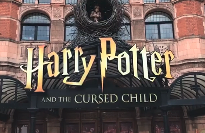 The new branding outside the Palace Theatre in London. Photo: The Rowling Library Twitter