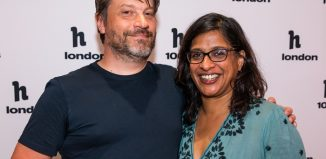 Ben Ringham and Indhu Rubasingham at the h100 Awards. Photo: Hayley Farr