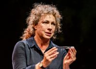 Alex Kingston in An Enemy of the People at Nottingham Playhouse. Photo: Tristram Kenton