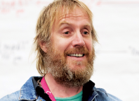 Rhys Ifans in rehearsals for On Bear Ridge at the Sherman Theatre. Photo: Mark Douet