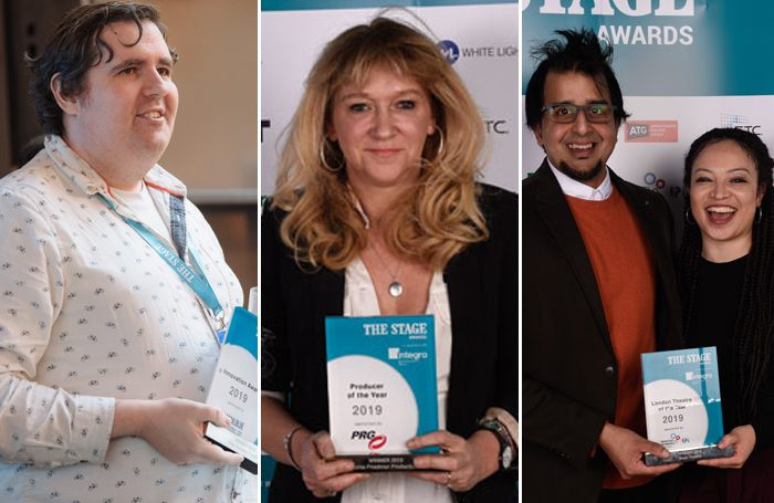 Last year's The Stage awards winners. Photos: Alex Brenner/David Monteith-Hodge