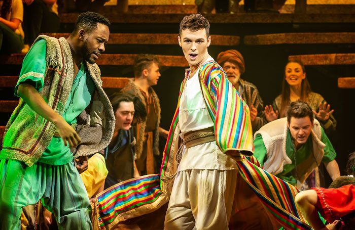 Jaymi Hensley in the UK tour of Joseph and The Amazing Technicolor Dreamcoat. Photo: Pamela Raith